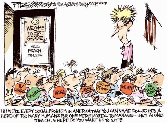 Cartoon on Teacher and Social Problems
