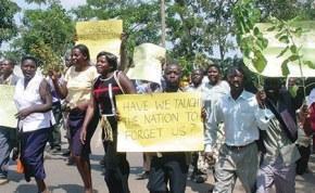 Namibia teachers on strike.