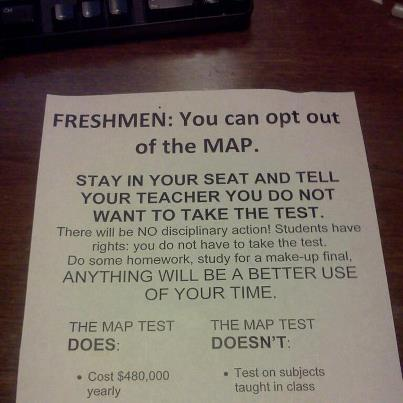 Students have refused to take the MAP test in solidarity with the teachers.