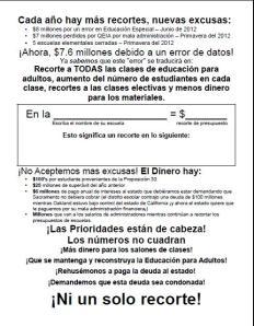 No Cuts Spanish Flyer Image