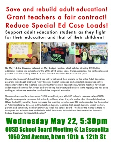 Save and rebuild adult education