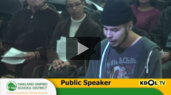 Check below for a transcript of the youth voices that GO Public Schools and the Oakland NAACP don't want you to hear.